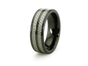 Ceramic Ring with Carbon Fiber Inlay 8mm