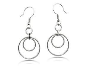 Dangle Hoop Stainless Steel Earrings