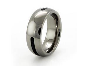 Dome Titanium Ring w/ Cable Inlay