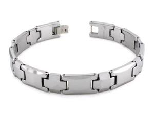 Tungsten Carbide Link Bracelet 8""