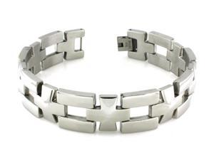 Stainless Steel Cross Link Bracelet