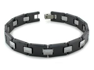Ceramic Tungsten Two Tone Bracelet