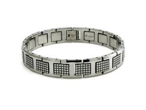 Tungsten Carbide Polished Commando Link Bracelet 8.5""