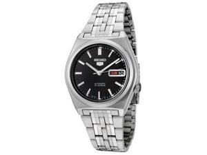 Men's Seiko 5 Automatic Black Dial Stainless Steel