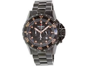 Swiss Precimax PX13233 Men's Carbon Pro Black Stainless-Steel Quartz Watch with Black Dial