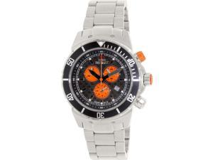 Swiss Precimax Men's Pursuit Pro SP13288 Silver Stainless-Steel Swiss Chronograph Watch with Grey Dial