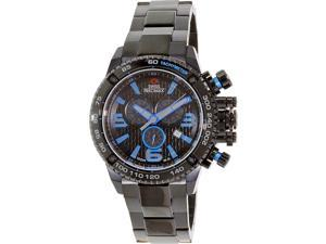 Swiss Precimax Forge Pro SP13242 Men's Black Dial Stainless Steel Chronograph Watch