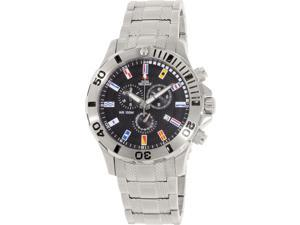 Swiss Precimax Men's Armada Pro SP12209 Silver Stainless-Steel Swiss Chronograph Watch with Black Dial