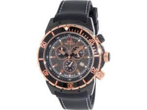 Swiss Precimax Men's Pursuit Pro Sport SP13281 Black Silicone Swiss Chronograph Watch with Grey Dial