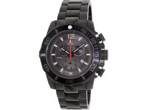 Swiss Precimax SP13253 Crew Pro Men's Black Dial Stainless Steel Chronograph Watch