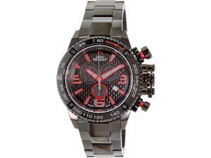 Swiss Precimax Men's Forge Pro SP13240 Black Stainless-Steel Swiss Chronograph Watch with Black Dial