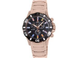 Swiss Precimax Men's Armada Pro SP13053 Rose-Gold Stainless-Steel Swiss Chronograph Watch with Black Dial
