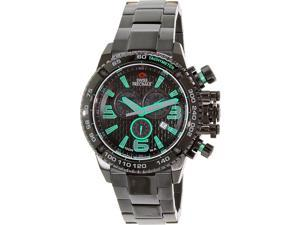 Swiss Precimax Forge Pro SP13243 Men's Black Stainless-Steel Swiss Chronograph Watch with Black Dial