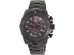 Swiss Precimax Legion Pro SP13265 Men's Black Stainless-Steel Swiss Chronograph Watch with Black Dial