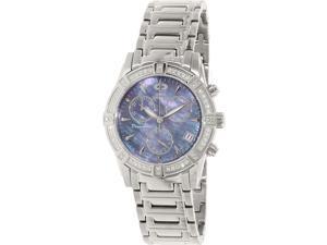 Swiss Precimax Desire Elite Diamond SP12079 Women's Mother-of-Pearl Dial Silver Ceramic Quartz Watch