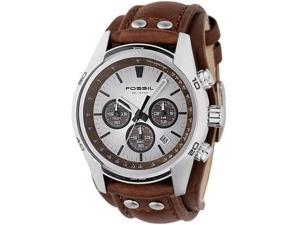 Fossil Men's CH2565 Brown Leather Quartz Watch with Beige Dial