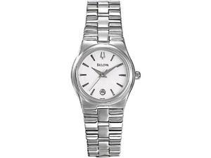Bulova Women's 96M102 Silver Stainless-Steel Quartz Watch with White Dial