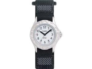 Timex Children's T79051 Black Cloth Quartz Watch with White Dial
