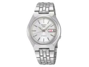 Seiko Men's 5 Automatic SNK299K Silver Stainless-Steel Automatic Watch with Silver Dial