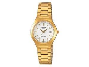 Casio Women's LTP1170N-7A Gold Tone Quartz Watch with White Dial