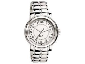 Dolce & Gabbana Men's DW0488 Silver Stainless-Steel Quartz Watch with Silver Dial