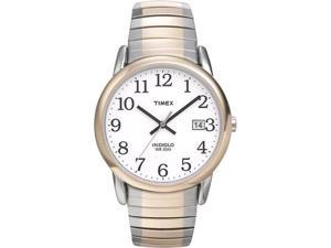 Timex Men's T2H311 Silver Stainless-Steel Quartz Watch with White Dial