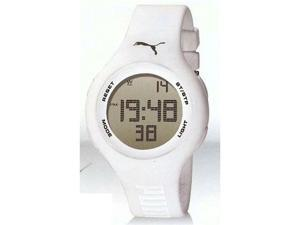 Puma Unisex PU910801010 White Polyurethane Quartz Watch with Black Dial