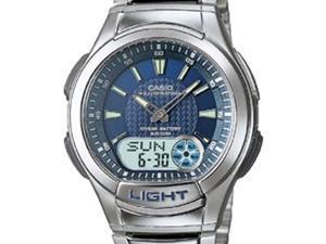 Casio Men's AQ-180WD-2A Analog-Digital Stainless Steel Sport Watch w/ Back Light