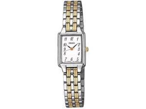 Seiko Women's SXGL61 Silver Stainless-Steel Quartz Watch with White Dial