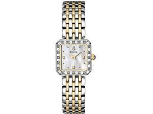 Bulova Women's 98R132 Silver Stainless-Steel Quartz Watch with Mother-Of-Pearl Dial