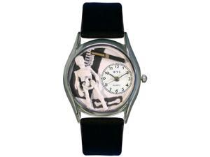 Orthopedics Black Leather And Silvertone Watch #S0610016