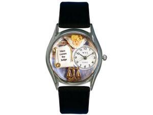 Whimsical Watches Unisex Judge Silver Watch Watch S0620017
