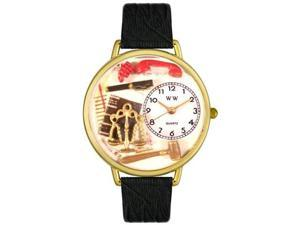 Lawyer Black Skin Leather And Goldtone Watch #G0610001