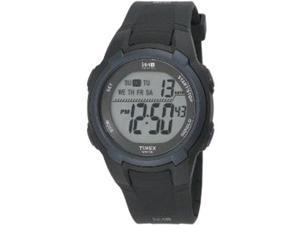Timex Unisex T5K086 Black Resin Quartz Watch with Grey Dial