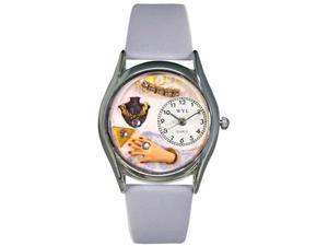Jewelry Lover Blue Baby Blue Leather And Silvertone Watch #S1010008