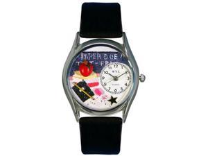 Kindergarten Teacher Red Leather And Silvertone Watch #S0640010