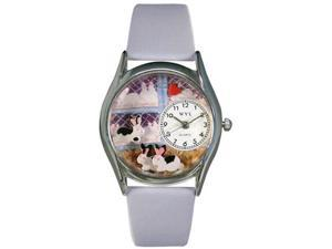 Bunny Rabbit Baby Blue Leather And Silvertone Watch #S0110008