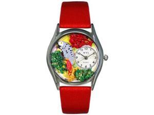 African Gray Parrot Green Leather And Silvertone Watch #S0150002