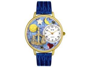 Libra Royal Blue Leather And Goldtone Watch #G1810008