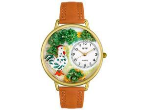 Rooster Tan Leather And Goldtone Watch #G0110001