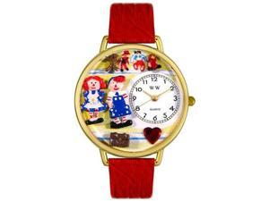 Raggedy Ann & Andy Navy Blue Leather And Goldtone Watch #G0220006