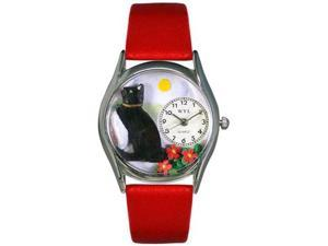 Basking Cat Yellow Leather And Silvertone Watch #S0120009