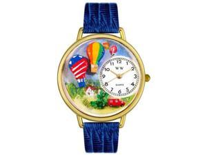 Hot Air Balloons Royal Blue Leather And Goldtone Watch #G1610010