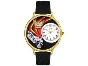 Whimsical Watches Unisex Motorcycle Gold Watch Watch G0420005