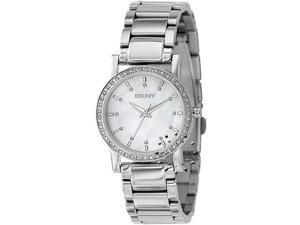 DKNY Women's NY4791 Silver Stainless-Steel Quartz Watch with Mother-Of-Pearl Dial