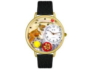 Collie Black Skin Leather And Goldtone Watch #G0130004