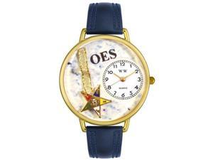 Order of the Eastern Star Navy Blue Leather And Goldtone Watch #G0710010