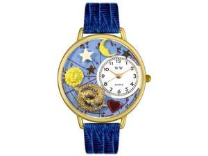 Pisces Royal Blue Leather And Goldtone Watch #G1810009