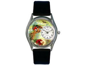Whimsical Watches Unisex Horse Competition Silver Watch Watch S0810001