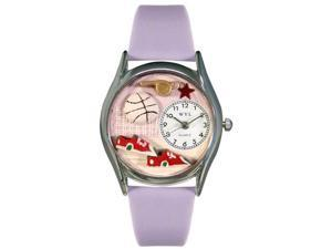 Volleyball Lavender Leather And Silvertone Watch #S0820021